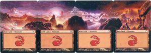 MTG Altered Card_Mountain_Kamikawa Panorama by GhostArm1911