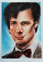 Neil Gaiman (Author) and Matt Smith (Actor) by SpringzArt