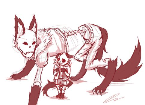 Underfell - Wolves by Jeyawue