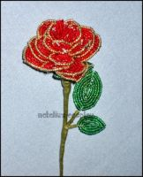 French Beaded Rose by Natalie526