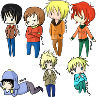 south park Chibis by Awkwardly-Handsome