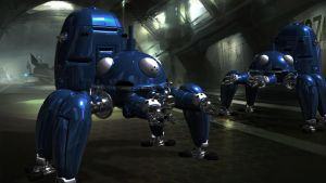 Tachikoma 3D - Finished Background Version by Julika-Nagara