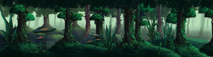 Forest game concept by Moonshen