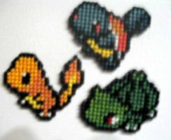 Charmander Squirtle Bulbasaur by StitchPlease