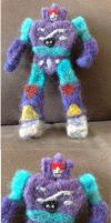 Needle-Felted Rumble by GlassCamel