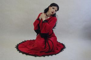 STOCK  Lady in Red by Apsara-Art