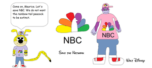 Marsupilami and Maurice loves NBC Network by BuddyBoy600