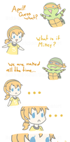 Mikey helps April realize something by Neko-mirichan