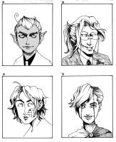Some faces by Nico-Mac