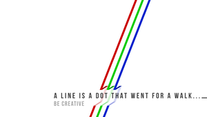 A Line is a Dot That Went For a Walk... by techs181