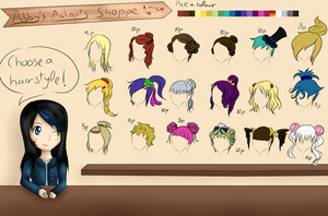 Hairstyles for 5-10 points OPEN! by Aqua-Adopts22