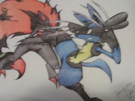 Lucario vs Zoroark part 2 by SpavVy