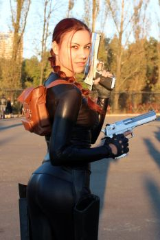 Lara Croft cosplay: catsuit improvisation 2 by TanyaCroft