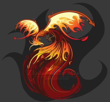 Fiery Pheonix by Tazmaa