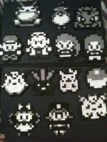 Black And White Pokemon Magnets by KoalaPandaPenguin