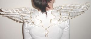 Angel Wings in White by customfairywings