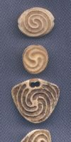 Four Spiral Theme Pendants by DonSimpson