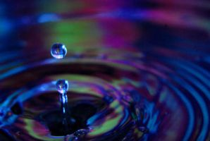 Colorful water droplet by tkguess