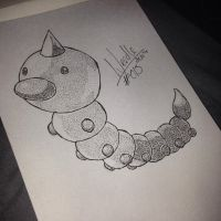 #013 - Weedle by poke-dots