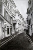 Empty Street drawing by Melistine