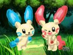 PAA:Minun and Plusle by Wulfsista