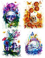 Nature skulls by PixieCold