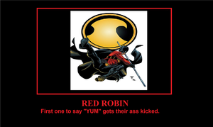 Red Robin Motivational Poster by Canovoy