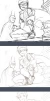 The sketching process of Patrol by Lverin