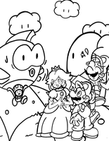 Mario 'n Friends Coloring Page by JamesmanTheRegenold