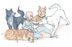 Fanart-Wolf's Rain-Group Shot by Blitzava