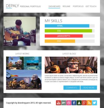 Depaly Personal Portfolio by andreyyann