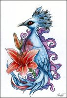 Exotic bird tattoo by RayneColdkiss