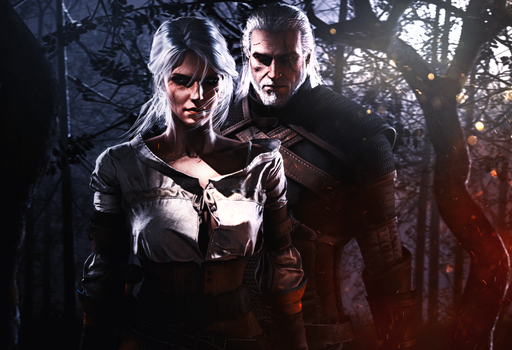 Ciri and Geralt 2 by INGYUARTS