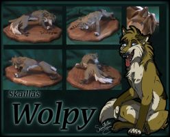 Wolpy sculpture of doom by WickedSpecter