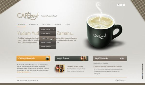 Cafekeyf Website Design by grafiket
