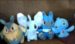 Pokemon plushies by SusanLucarioFan16