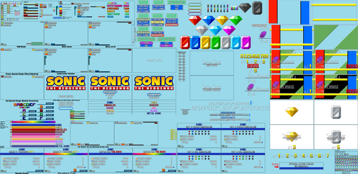 My Custom Sonic HUD, Zone Title card, and Results by DanielMania123