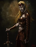 Elven Warrior by JamesDenton
