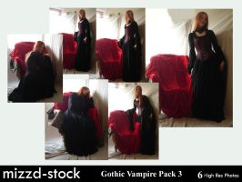 Gothic Vampire Pack 3 by mizzd-stock