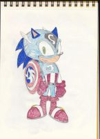 Sonic as Captain America by gizmo01