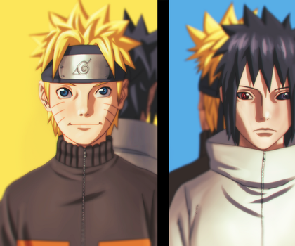 Naruto And Sasuke by afran67