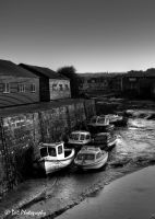 St Andrew's Fishing Boats BW by davidjearly