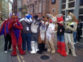 Group shot of furries by Evilsquirrel