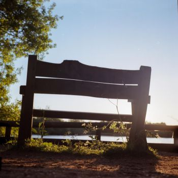 Bench by the Lake by JamesTPhotography