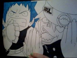 black*star and soul eater by Zimmander