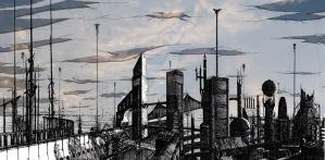 The City That Stands Beneath The Crumbling Sky 0 by Remeindre