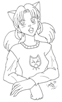 Catgirl Lineart 2 by sailorharmony2000