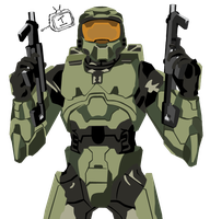 Master Chief Vector by Incogneto45