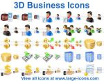 3D Business Icons by Iconoman
