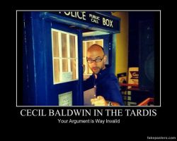 Cecil In A Tardis by teamfreewillangel